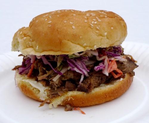 pulled lamb sandwich
